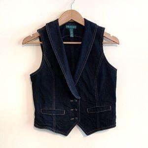 Dark Wash Denim Vest by Ralph Lauren Jeans Company